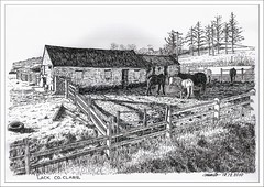 Lack - County Clare - Ireland (-murilo-) Tags: ireland horses horse art brasil pen countryside sketch clare arte drawing country paisagem sketches desenho lack tvp caneta coclare countryscape nankim msromeiro coutyclare thevirtualpaintout murilosromeiro