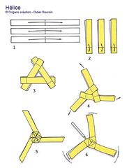 Origami création - Didier Boursin - Diagramme hélice