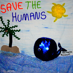 Girl Scout Troop 222 from Richmond, KY (International Fiber Collaborative, Inc.) Tags: newyork london art home water rain kids stars visions washington community war flickr peace anniversary kentucky space unitedstatesofamerica dream conservation felt save nasa explore health scouts council leader express reach olympics breastcancer humans global facebook discover sochi saturnvrocket presidentobama internationalfibercollaborative thedreamrocket