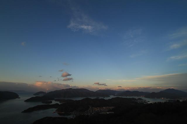 舞鶴湾の夕暮れ