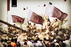 qatar national day (erickespinosa) Tags: qatar qatarnationalday nationaldayparade parade arab arabic military plane jet people smile pathan corniche doha