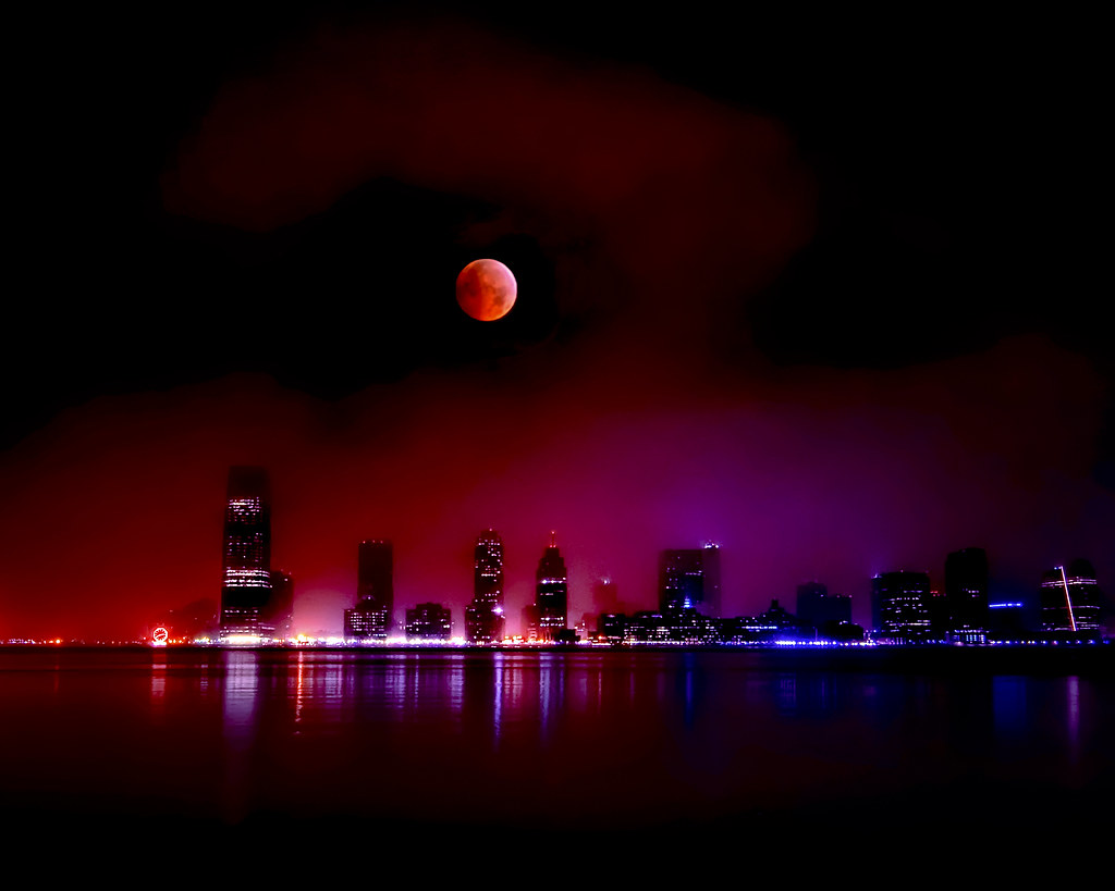 Jersey City, New Jersey and the 2010 Lunar Eclipse