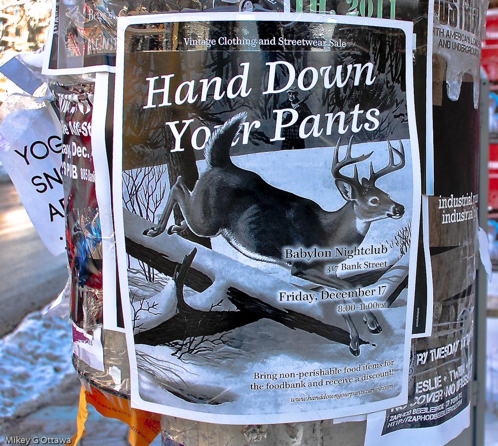 Used Clothing Store Street Poster  - Ottawa 12 10