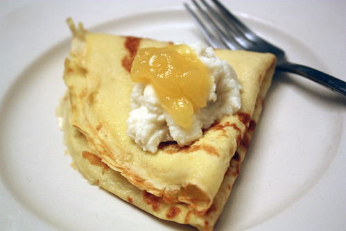 crepes + ricotta + lemon curd.