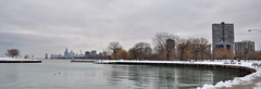 Winter in Chicagoland (Seth Oliver Photographic Art) Tags: chicago reflections illinois nikon midwest lighthouses cityscapes lakemichigan trumptower montroseharbor pinoy johnhancockbuilding urbanscapes cityskylines d90 northsidechicago wetreflections winterscapes lakepointetower handheldshot urbanskylines winterinchicago willistower setholiver1 montroseharborlighthouses wintersseason