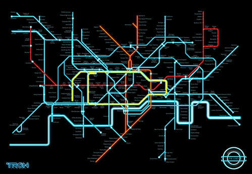 Tron Tube Map by iamclu