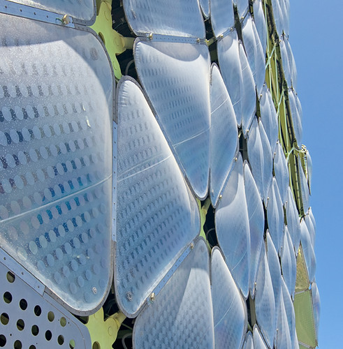 Detalle del ETFE, Edificio Media-TIC, Barcelona, Spain