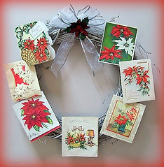 Vintage Card Wreath #1 (The Tiquehunters Wife ( formerly Teeny Tiny Cabin)) Tags: christmas holiday festive wreath vintagecards oldcards