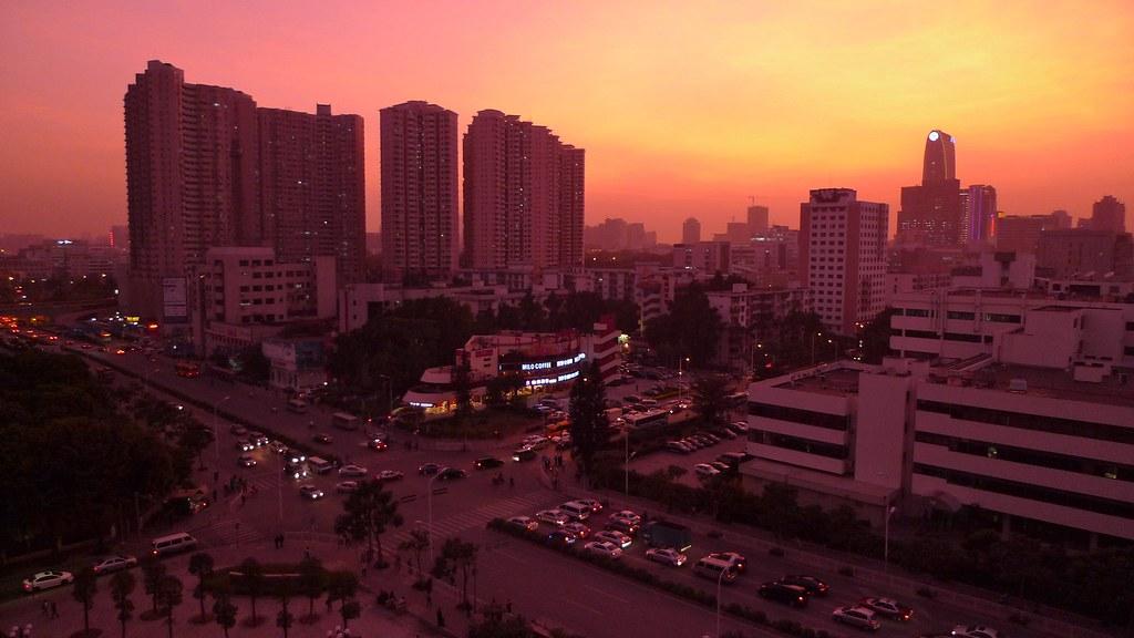 Dusk Over Shenzhen
