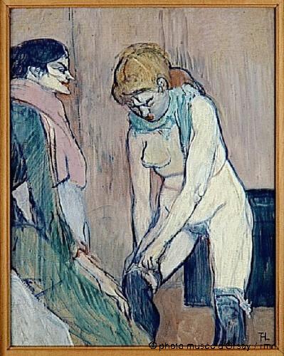 Femme tirant son bas, Henri de Toulouse-Lautrec, 1894