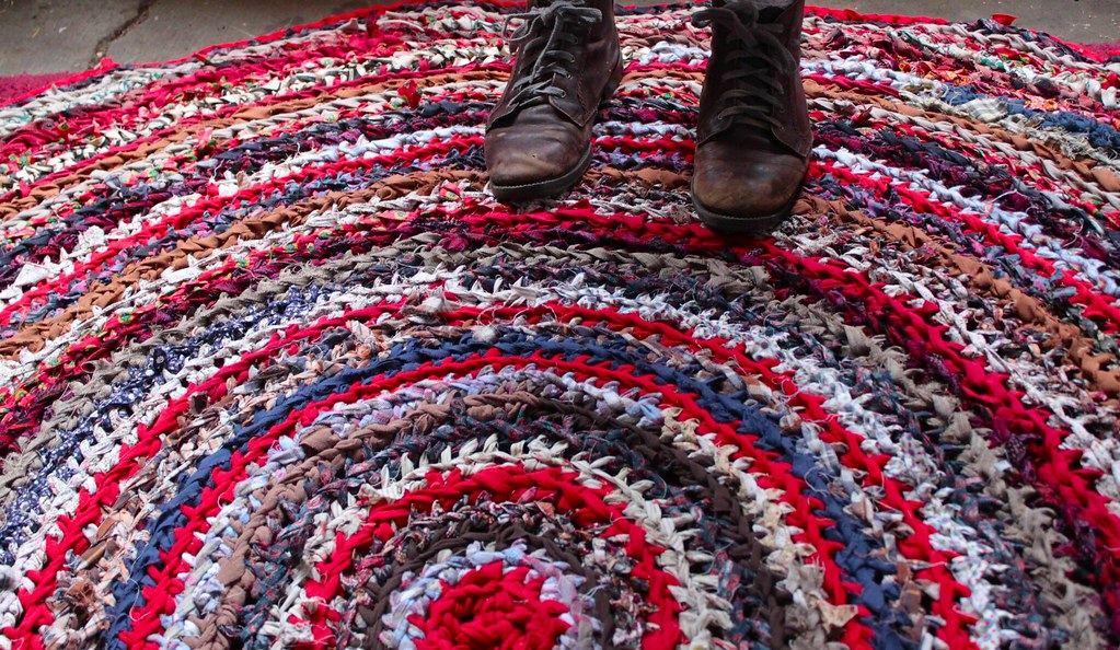 one sheepish girl: Crochet Inspiration - Colorful Rag Rugs