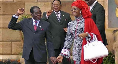 President Robert Mugabe and First Lady Amai Grace Mugabe. The first couple of the Southern African nation of Zimbabwe attended the UN 66th General Assembly in New York during September 2011. by Pan-African News Wire File Photos