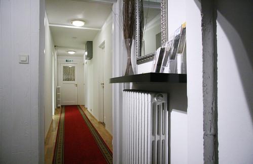 Hallway at Husavik Guesthouse