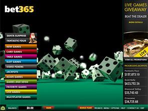 Bet365 Casino Lobby