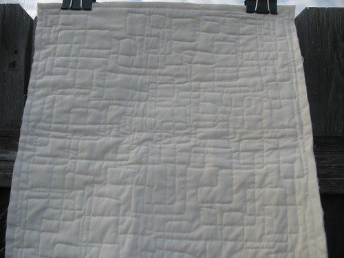 House Quilt Back