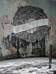 RIP Monsieur Qui 2010 (Crikette Guilimaux) Tags: paris art collage de la rip rue 2010 strret