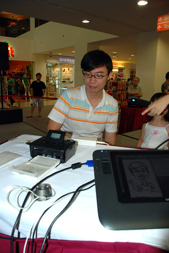 digital caricature live sketching @ Liang Court - day 3 - 2a