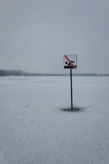 No swimming (zazie94) Tags: snow ice neige glace