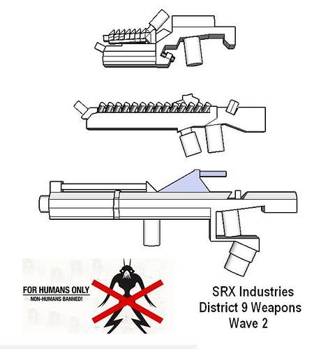 SRX Disrict 9 Guns of Wave 2