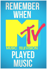 Remember When? (christian frarey) Tags: new old pink blue music white colors television yellow photoshop computer poster logo design tv lyrics remember play graphic dumb bands artists mtv when stupid processing statement process popular songs played