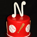 baseball mini cake