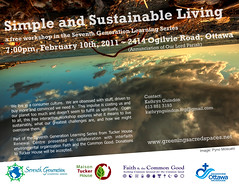 FCG Simple + Sustainable Living event poster