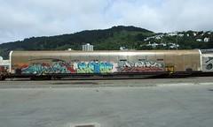 GT 98 Wellington (AA654) Tags: newzealand graffiti rail railway 98 nz wellington gt sworn 1000000railcars kiwirail