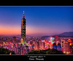 日暮舞曲_HDR(Taipei 101 Tower) (nans0410(busy)) Tags: sunset taiwan 101 e taipei 台灣 hdr 台北市 信義區 象山 台北101 台北夜景 101tower bestcapturesaoi mygearandmepremium mygearandmebronze mygearandmesilver mygearandmegold mygearandmeplatinum mygearandmediamond