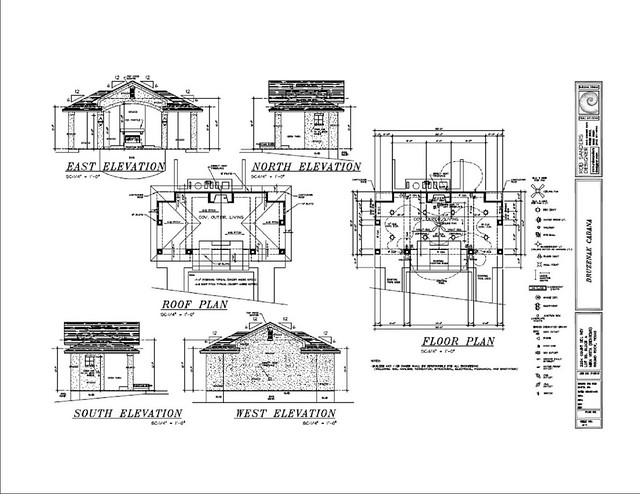 Pool Houses and Cabana Building Plans and Kits