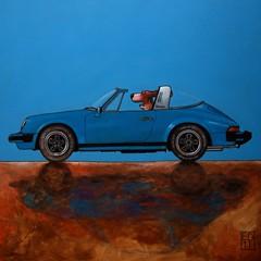 140 targa (edartr) Tags: car paintings porsche sportscar targa thelittledoglaughed dogandcatincar porsche1976