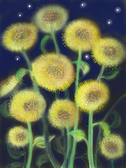 iPad drawing number 34 - Sunflowers Redux