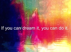 If you can dream it, you can do it. Walt Disney~ (Manhattan Girl) Tags: nyc quote manhattan lamppost fauxlomo lomoish winter2011 snowingtodayoutsidemybedroomwindow addedoneofmyholgatextures