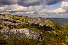 At the Top of Big German Kuzov Island (Kaiser Sozo) Tags: sea summer sky clouds landscape geotagged moss russia stones plateau nikond70s 2008 solovki kuzova seid whitesea kareliya kuzovaislands tokinaaf288028 kuzovaarchipelago germankuzov plateauofseids