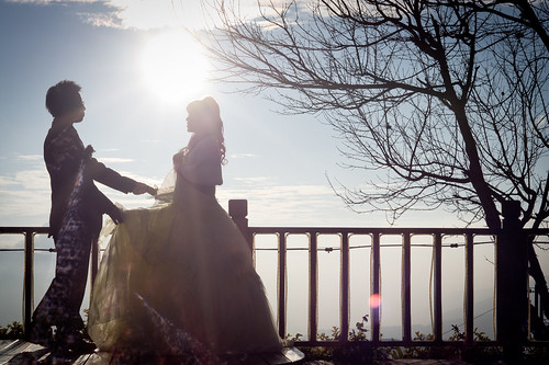 [Free Image] People, Couple, Event/Leisure, Wedding, Wedding Dress, Silhouette, 201101121700