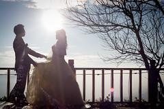[フリー画像] 人物, カップル・恋人・夫婦, イベント・行事・レジャー, 結婚式, ウエディングドレス, シルエット, 201101121700