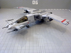 SA-43 Hammerhead (Babalas Shipyards) Tags: fighter lego space military jet future scifi airforce spaceabovebeyond