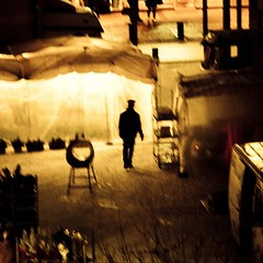 The morning ghost (Gilderic Photography) Tags: city morning winter light shadow urban snow cinema man cold station silhouette backlight night canon dark square eos europe raw mood darkness belgium belgique belgie gare hiver ombre story lumiere neige cinematic mons nuit march contrejour matin lightroom carre 500d 500x500 gilderic