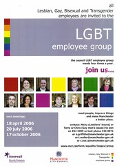 LGBT Employee Group poster, Manchester City Council, 2006 (GB127.M775/1/5) (archivesplus) Tags: manchester lgbt archives manchestercitycouncil gb127