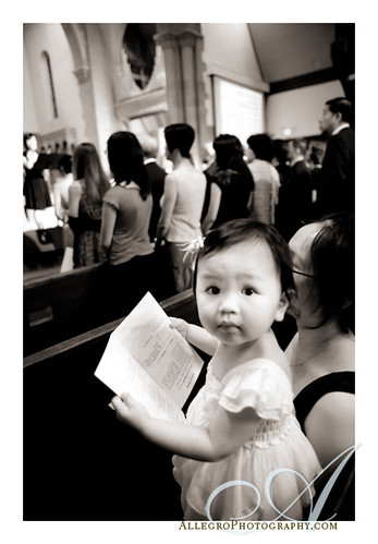 veronique-real-wedding-chinese-reception-pa- little girl during wedding ceremony at church in newton massachusetts