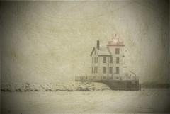 Beacon of Light (paulRcsizmadia) Tags: light bw lighthouse art texture lensflare layers beacon vignette lorain lorainlighthouse lorainoh paulrcsizmadia