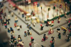 Tilt-Shift (Pedro Silvares) Tags: nyc usa newyork film lego manhattan rockefellercenter september nikkor rockefeller legostore nikonfg 50mmf12ais