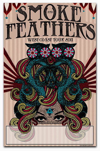 Smoke and Feathers 2011 West Coast Tour Poster