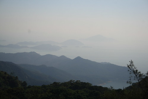 View of mountains from the Giant Buddha of Hong Kong
