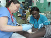 Deborah Burger, RN, NNU Council of Presidents Helps Haiti Earthquake Victims