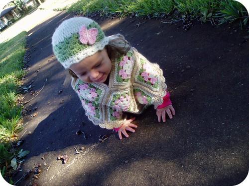 Toddler granny square poncho
