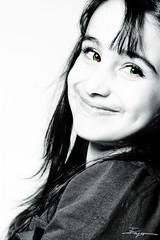 My Name Is Rahaf :) (Fayo0rah) Tags: light portrait people white black macro eye girl smile look canon dark happy see kid 100mm kuwait f28 ef عين بنت حلوه rahaf ورده 50d طفل رهف