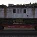 Locomotive on flatcar