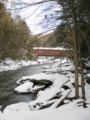Slippery Rock Creek and Covered Bridge
