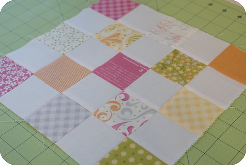 postage stamp quilt along: patchwork