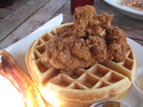 Fried Chicken, Waffles, and Bacon at Fuel